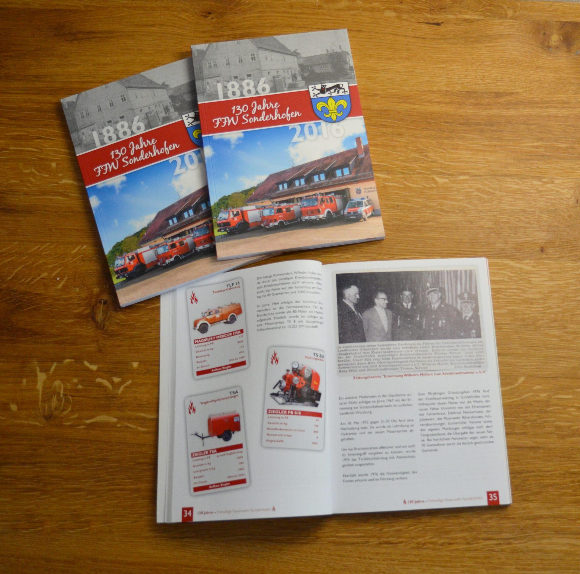 FZ Mediengestaltung - Festschrift FFW Sonderhofen