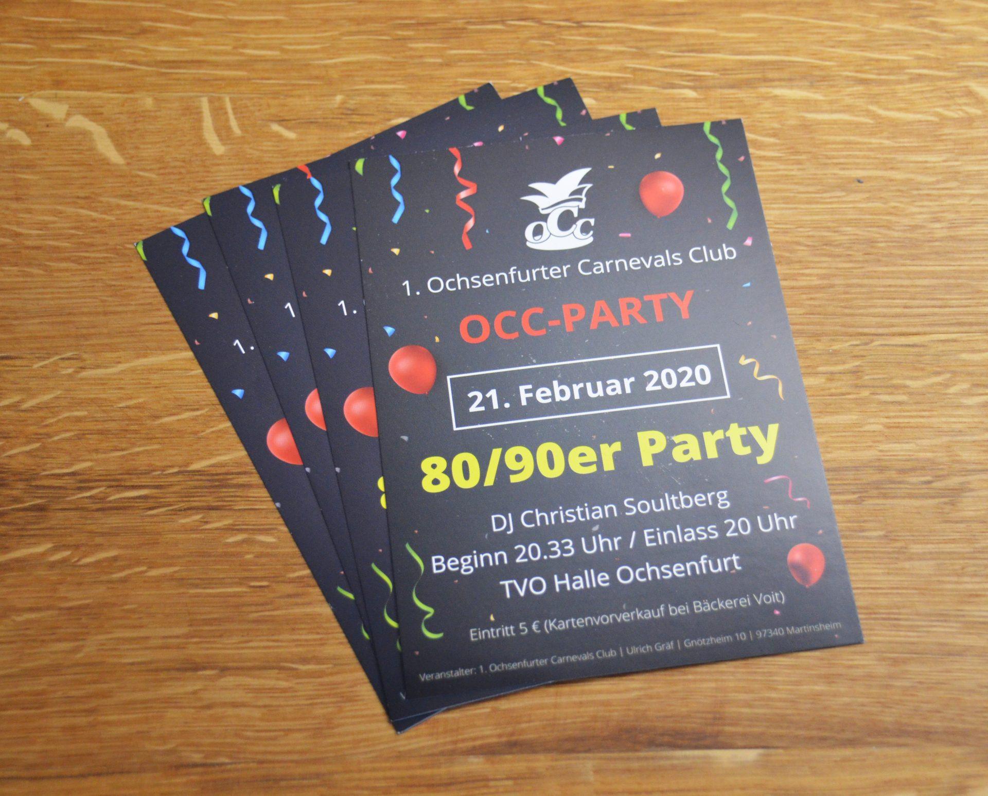 FZ Mediengestaltung - OCC Party Veranstaltungsflyer